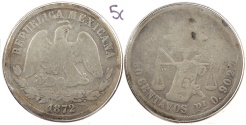 World Coins - MEXICO: 1872-Pi O 50 Centavos