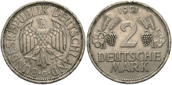World Coins - GERMANY (WEST): 1951 G 2 Mark