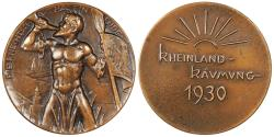 World Coins - GERMANY Weimar Republic by Mayer & Wilhelm. 1930 AE 51mm Medal UNC