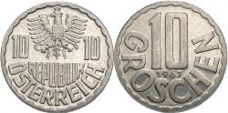 World Coins - AUSTRIA: 1967 10 Groschen