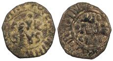 World Coins - ITALIAN STATES Kingdom of Sicily  William II 1166-1189 Follaro   Near VF