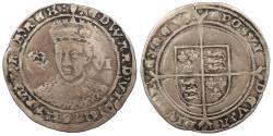 World Coins - ENGLAND Edward VI 1547-1553 Sixpence 1551-1553 VF