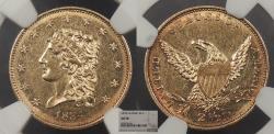 Us Coins - 1834 Classic Head 2 1/2 Dollars NGC AU-58