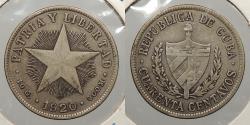 World Coins - CUBA: 1920 40 Centavos