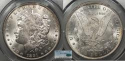 Us Coins - 1891 CC Morgan 1 Dollar (Silver) PCGS MS-63