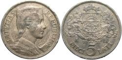 World Coins - LATVIA: 1932 5 Lati