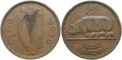 World Coins - IRELAND: 1939 1/2 Penny