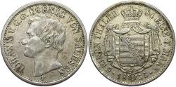 World Coins - GERMAN STATES: Saxony 1855 1/6 Thaler