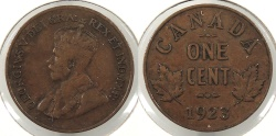 World Coins - CANADA: 1923 Key date Cent