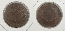 Us Coins - 1864 2 Cents Small motto VG