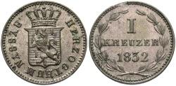 World Coins - GERMAN STATES: Nassau 1832 1 Kreuzer
