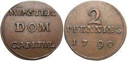 World Coins - GERMAN STATES: Munster Cathedral 1790 2 Pfennig