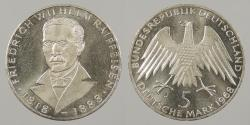 World Coins - GERMANY: 1968-J Proof 5 Mark