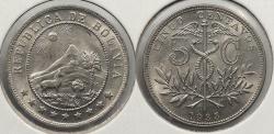 World Coins - BOLIVIA: 1935 5 Centavos