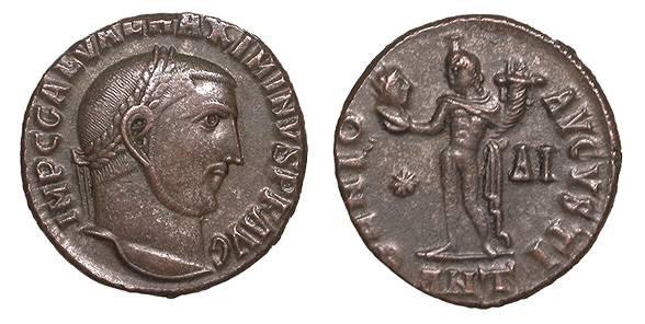 Ancient Coins - Maximinus II 309-313 A.D. Follis Antioch Mint Good VF