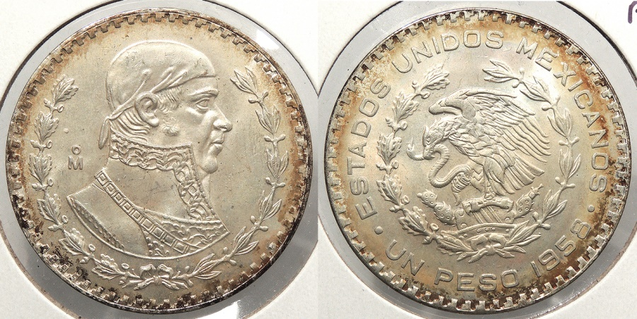 World Coins - MEXICO: 1958 Peso