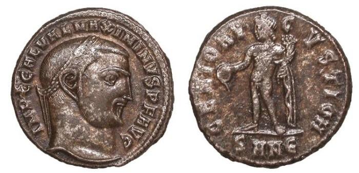 Ancient Coins - Maximinus II 309-313 A.D. Follis Nicomedia Mint EF