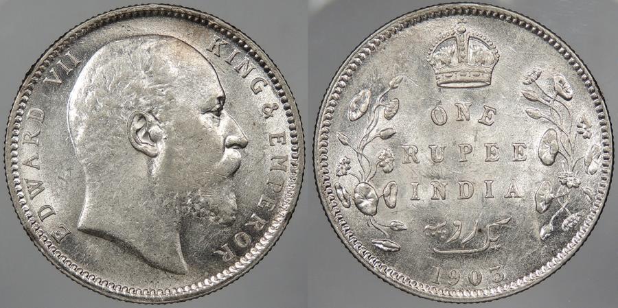 World Coins - INDIA: 1903 © Edward VII Rupee