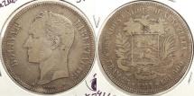 World Coins - VENEZUELA: 1910 5 Bolivares #WC63416