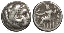 Ancient Coins - Kings of Macedon Philip III Arrhidaeus 323-317 B.C. Drachm Good Fine