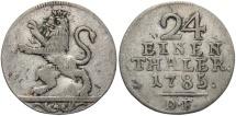 World Coins - GERMAN STATES: Hesse-Cassel Friedrich II 1785 1/24 Thaler
