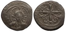 Ancient Coins - Anonymous, Time of Nicephorus III 1078-1081 A.D. Follis Constantinople Mint Near VF