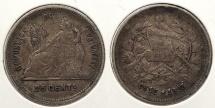 World Coins - GUATEMALA: 1893 25 Centavos