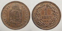 World Coins - HUNGARY: 1882-KB Krajczar