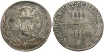 World Coins - GERMAN STATES: Wurttemberg 1818 3 Kreuzer
