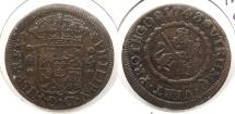 World Coins - SPAIN: 1743 4 Maravedis