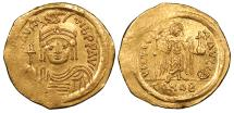 Ancient Coins - Maurice Tiberius 582-602 A.D. Solidus Constantinople Mint Mint State