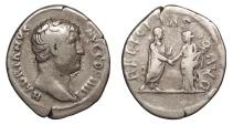Ancient Coins - Hadrian 117-138 A.D. Denarius Rome Mint Good Fine