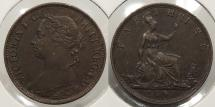 World Coins - GREAT BRITAIN: 1891 Farthing