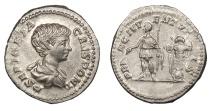 Ancient Coins - Geta, as Caesar 209-212 A.D. Denarius Rome Mint Choice EF