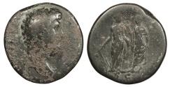 Ancient Coins - Aelius as Caesar 136-138 A.D. Sestertius Rome Mint About Fine
