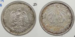 World Coins - MEXICO: 1906 Closed 9. 50 Centavos