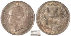World Coins - GREAT BRITAIN Victoria 1873 Shilling NGC MS-64