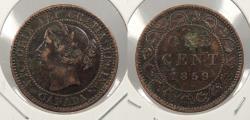 World Coins - CANADA: 1859/8 Victoria Cent