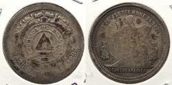 World Coins - HONDURAS: 1899/88 25 Centavos