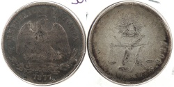 World Coins - MEXICO: 1877-Zs S 50 Centavos
