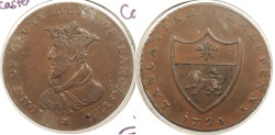 World Coins - GREAT BRITAIN: Lancashire - Lancaster 1794 Halfpenny