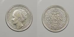 World Coins - CURACAO (CURAÇAO): 1943-P 25 Cents