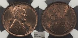 Us Coins - 1914 Lincoln 1 Cent NGC MS-64 RB