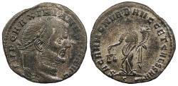 Ancient Coins - Maximianus First Reign: 286-305 A.D. Follis Rome Mint Near EF