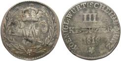 World Coins - GERMAN STATES: Wurttemberg 1818 3 Kreuzer