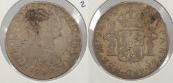 World Coins - PERU: 1797-LIMAE IJ Charles IV 2 Reales
