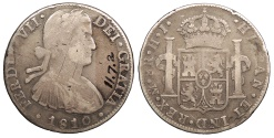 World Coins - MEXICO Ferdinand VII 1810-Mo HJ 8 Reales Fine