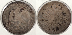 World Coins - MEXICO: 1850-Pi MC Real