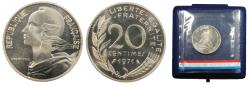 World Coins - FRANCE 1971 Piedfort 20 Centimes BU