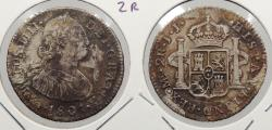 World Coins - PERU: 1801-LIMAE IJ Charles IV 2 Reales